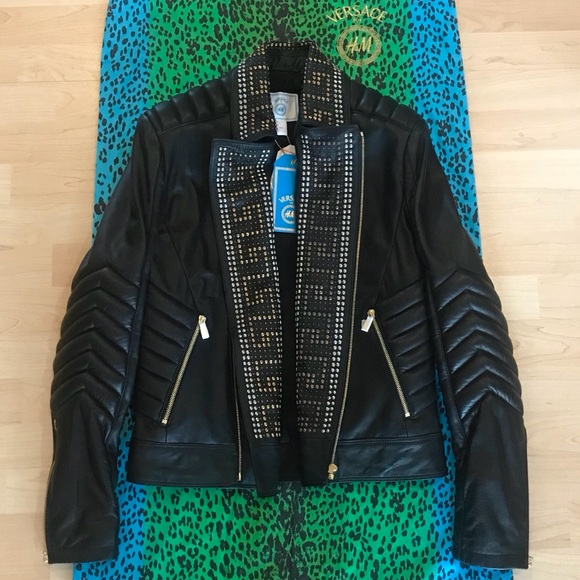 ba67a6210f5f VERSACE FOR H M Mens Leather Jacket